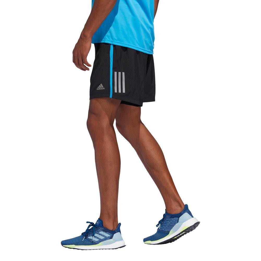 adidas own the run shorts m niebiesko-czarne