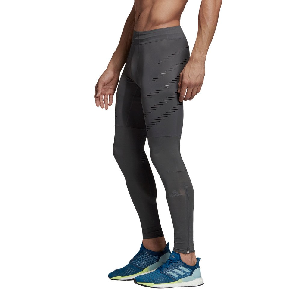 adidas speed long tights m szare