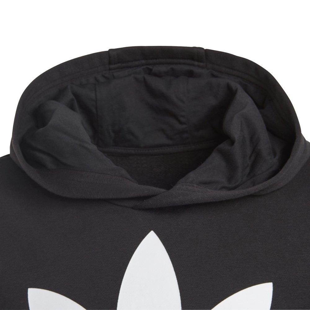adidas trefoil hoodie młodzieżowa czarna