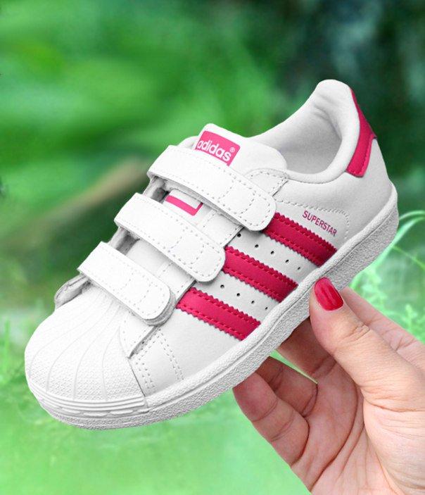 Buty dla dzieci adidas Superstar CF C biało czarne [B26070