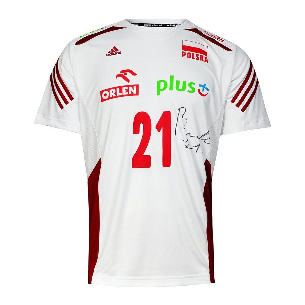 koszulka adidas reprezentacji polski z autografem rafała buszka