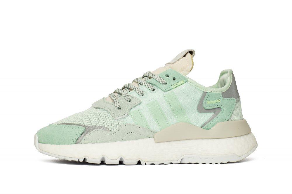 adidas nite jogger w damskie zielone (f33837)