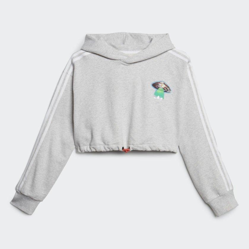 adidas x fiorucci cropped hoodie (ec5758)
