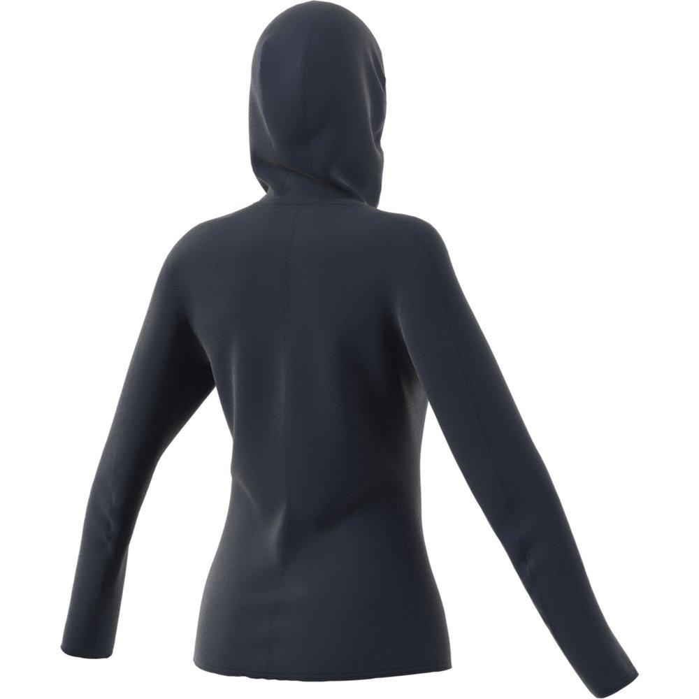 adidas trace rocker hooded fleece w granatowa