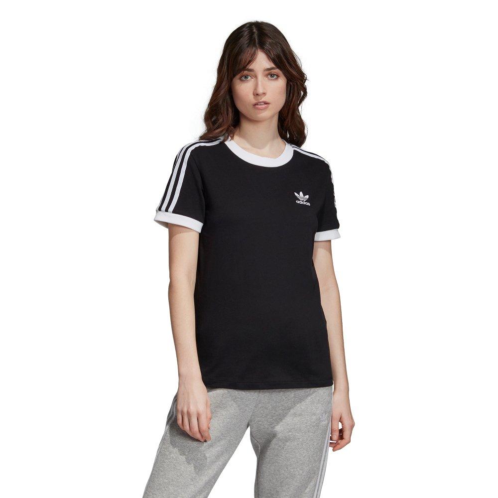Koszulka damska adidas Originals 3 Stripes DV2608 | CZARNY