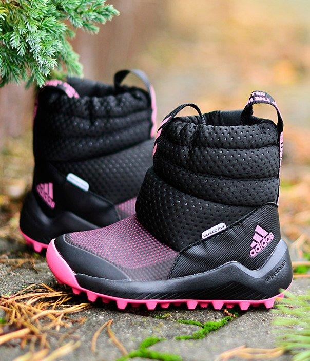 adidas rapidasnow boots c czarno-różowe