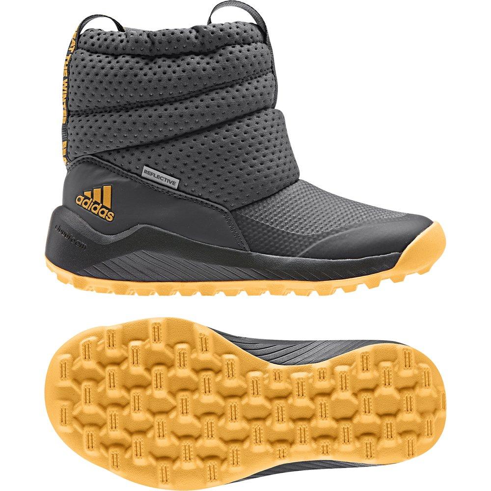 adidas RapidaSnow Boots C szaro pomarańczowe