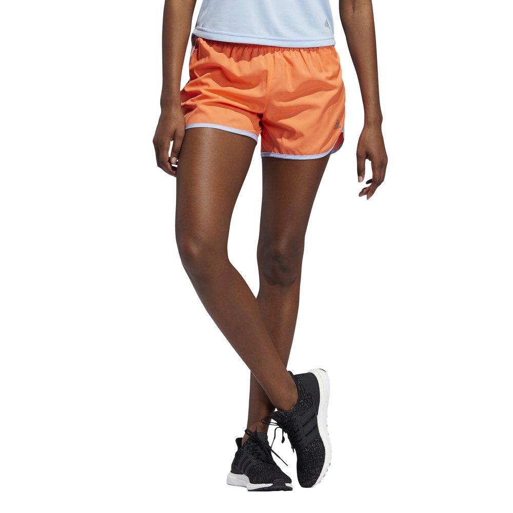 adidas marathon 20 shorts w pomarańczowe