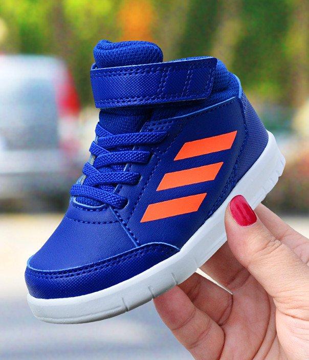 adidas AltaSport Mid EL I niebiesko-pomarańczowe
