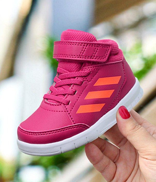 adidas AltaSport Mid EL I różowo-pomarańczowe