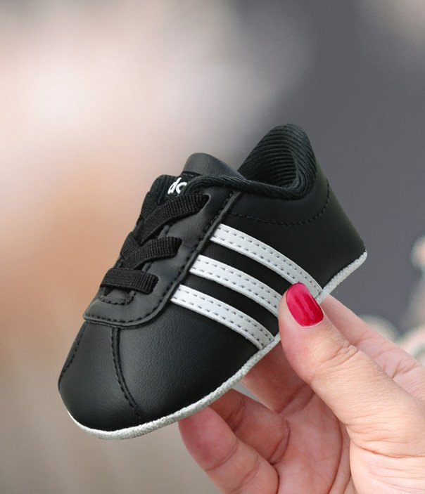 adidas VL Court 2.0 Crib czarno białe