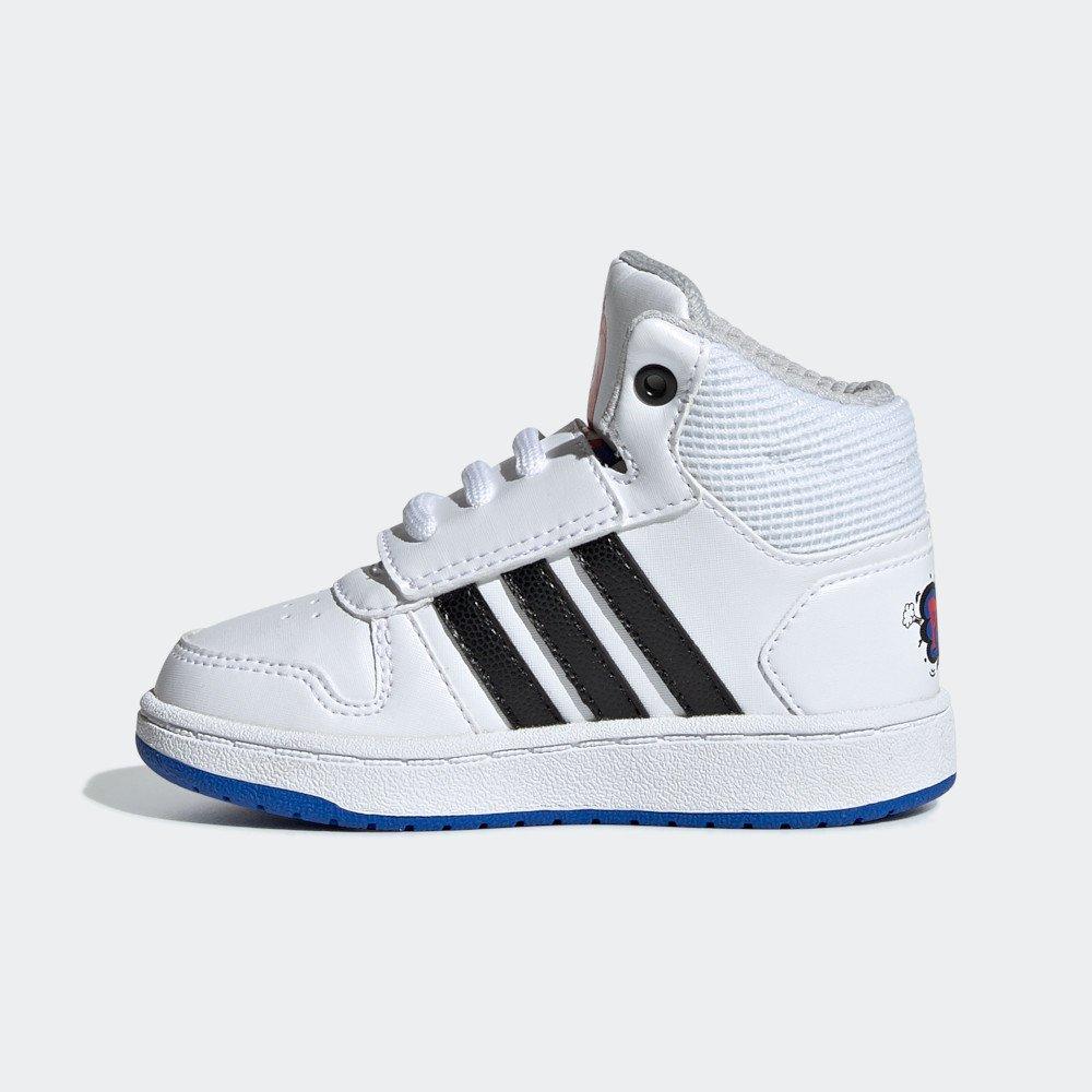 adidas Hoops Mid 2.0 I biało czarne