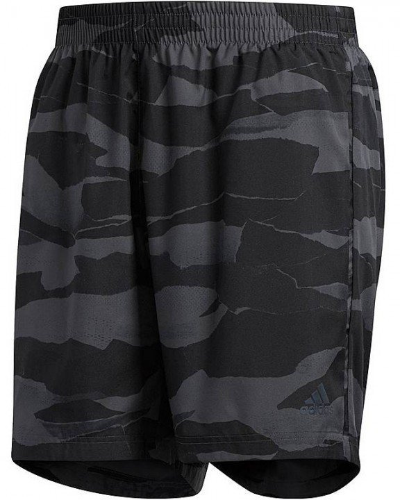 """adidas run it camo short 5"""" grey"""