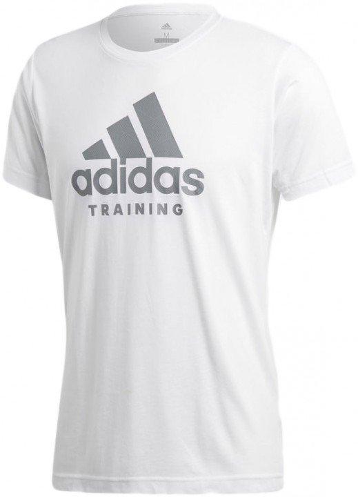 adidas training tee white