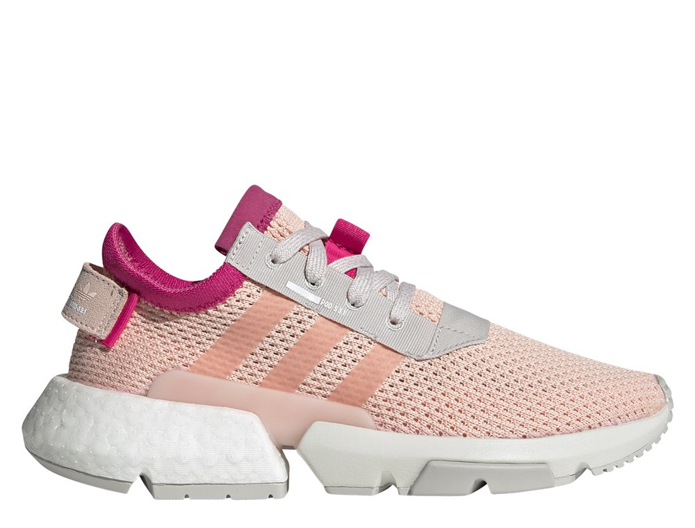 zimowe buty adidas jasno rozowe
