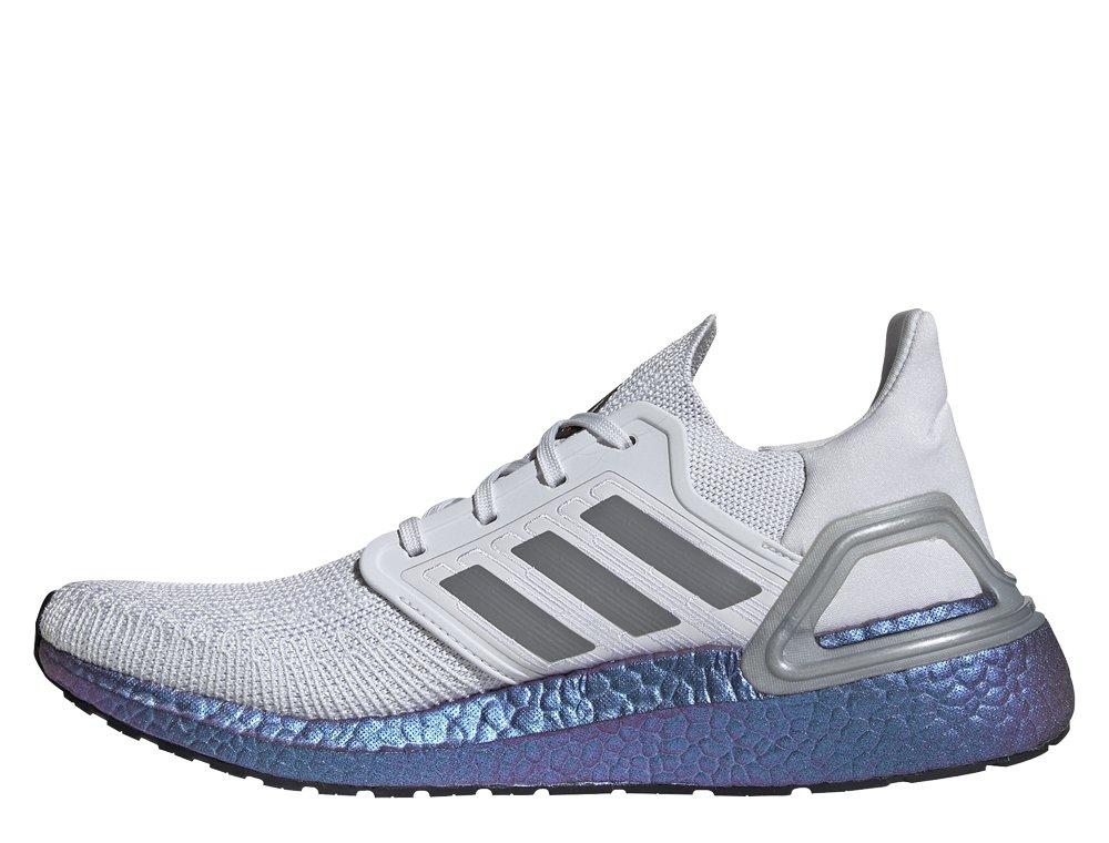 buty adidas biało szare