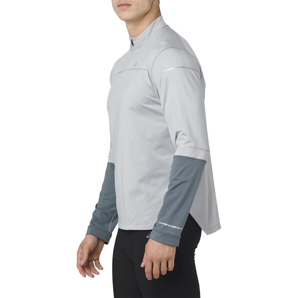 asics lite-show long sleeve 1/2 zip shirt m szara