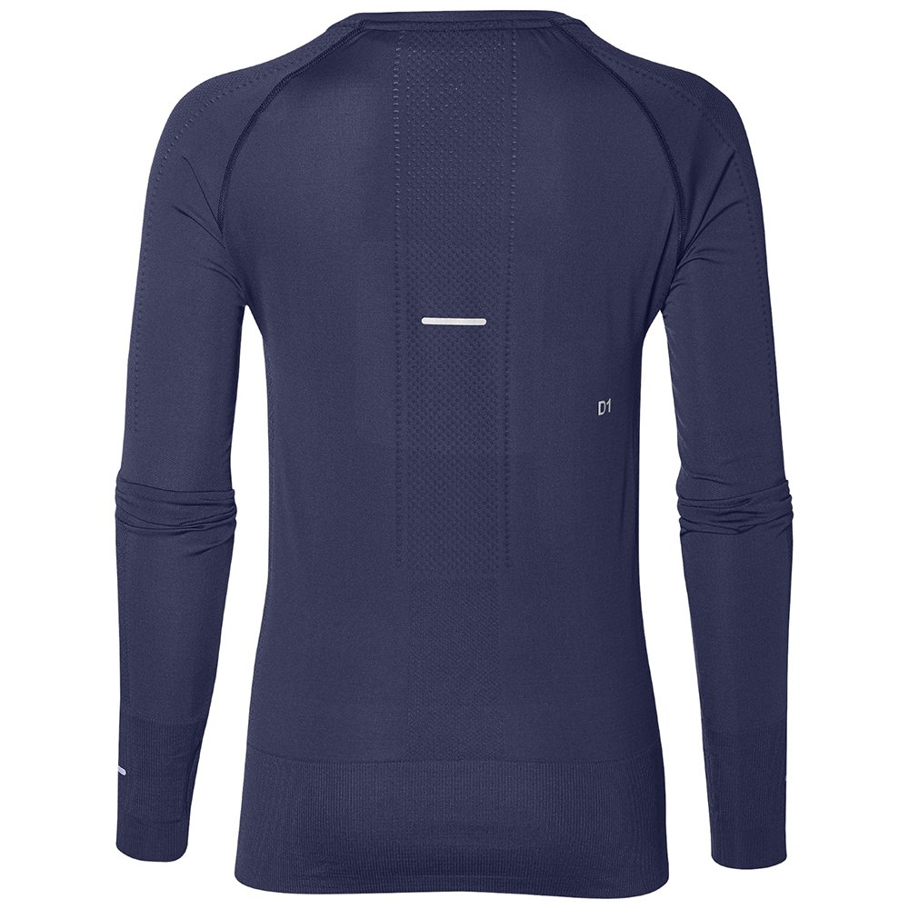 asics seamless long sleeve indigo blue