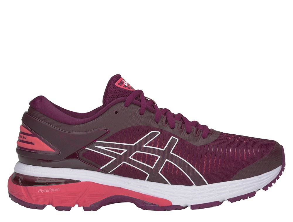 asics gel-kayano 25 w koralowo-bordowe