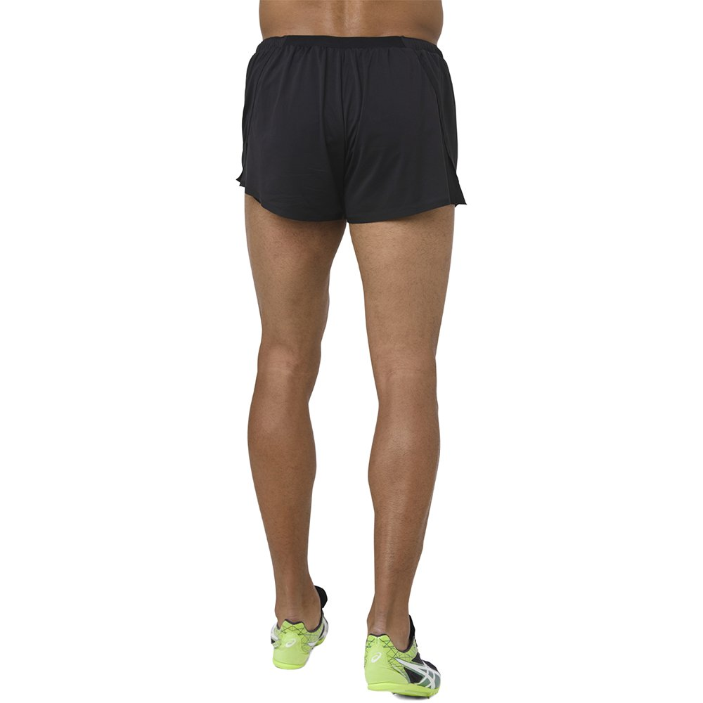 asics knit short m czarne