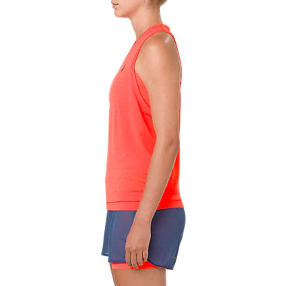 asics gel-cool sleeveless top w jaskrawo-koralowa