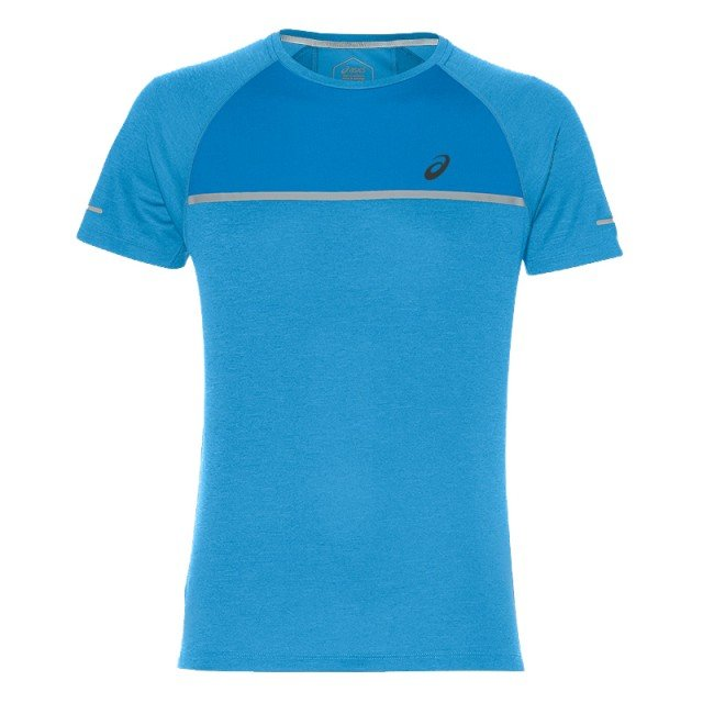 asics short sleeve top blue