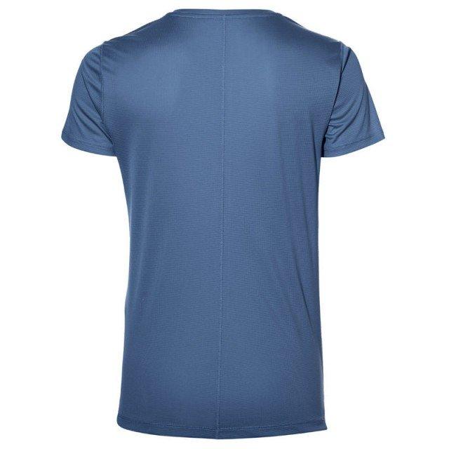 asics silver short sleeve top blue