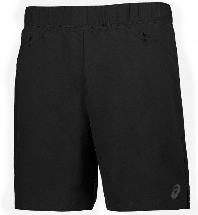 asics 5in short black