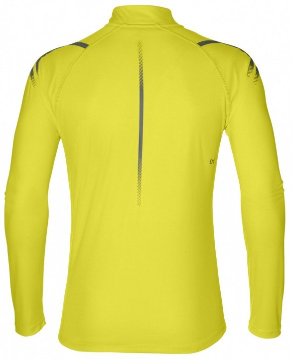 asics icon ls 1/2 zip top lemon grey
