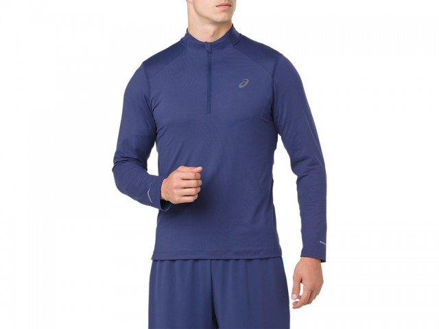 asics long sleeve jersey indigo blue