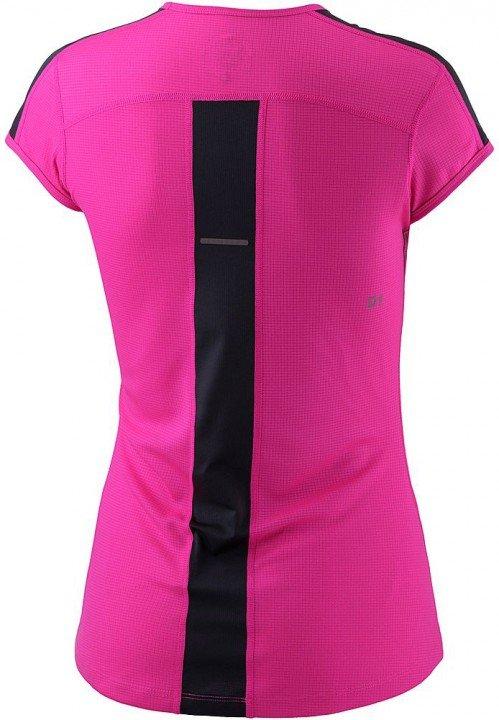 asics short sleeve top pink black