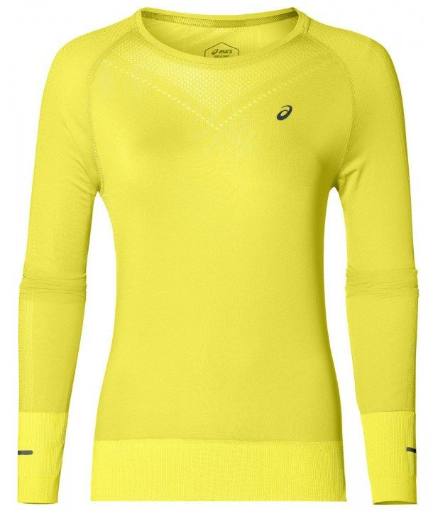 asics seamless long sleeve lemon spark