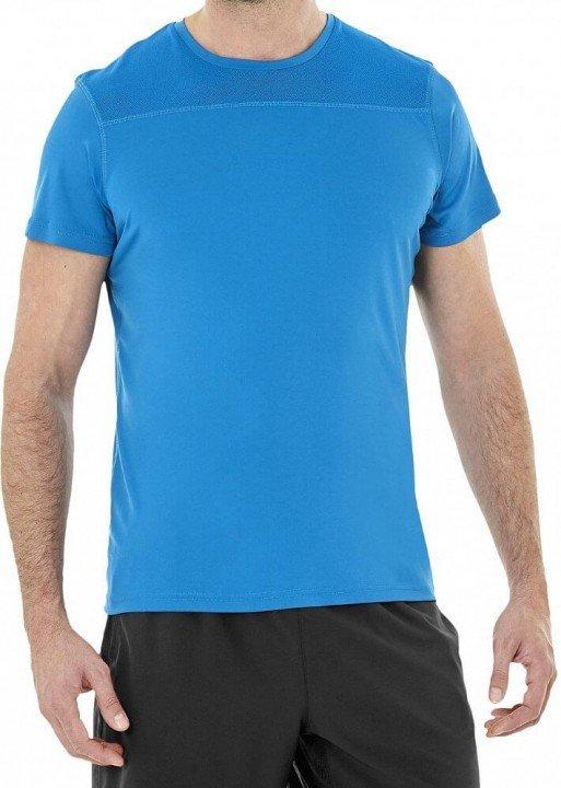 asics true performance short sleeve top blue