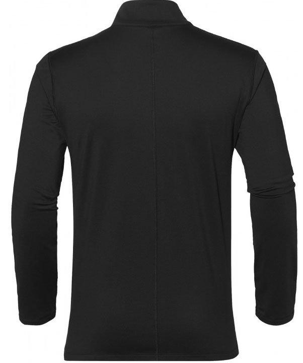 asics silver long sleeve 1/2 zip winter top black