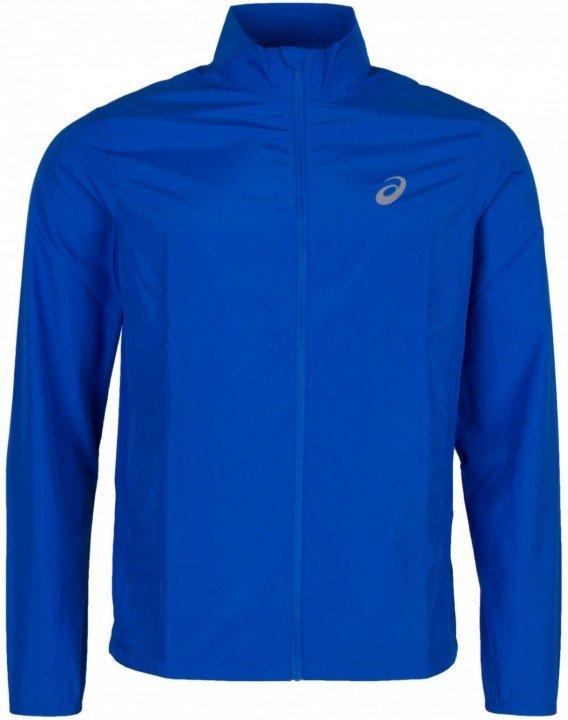asics silver jacket blue