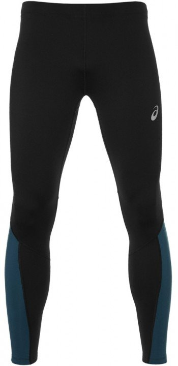 asics winter tight perfect black blue steel