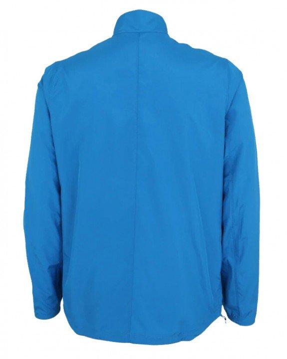 asics silver jacket race blue