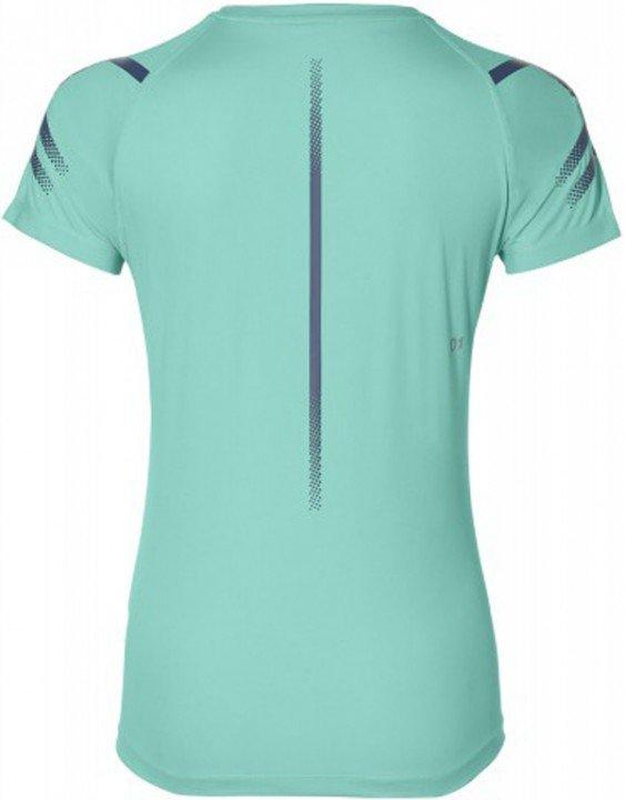 asics icon short sleeve top green heather