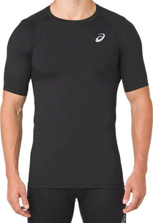 asics base layer short sleeve performance black