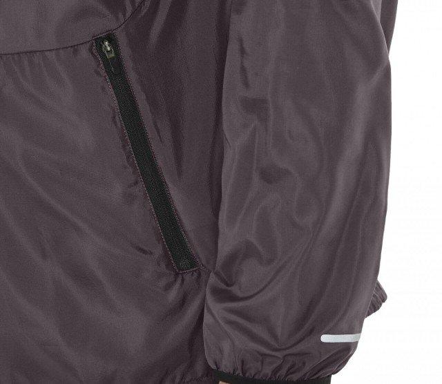 asics packable jacket grey / black
