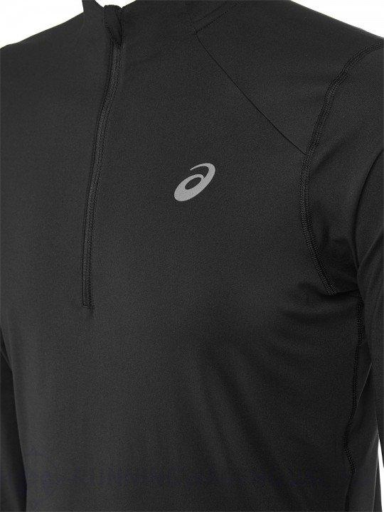 asics long sleeve 1/2 zip jersey performance black