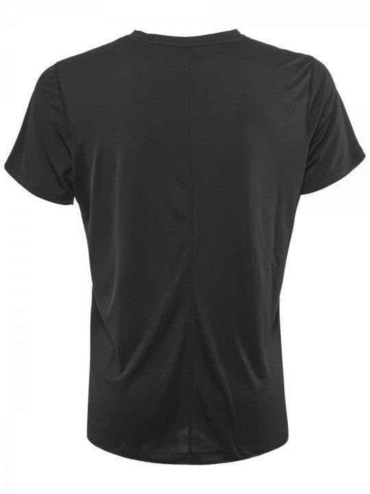 asics silver short sleeve top black