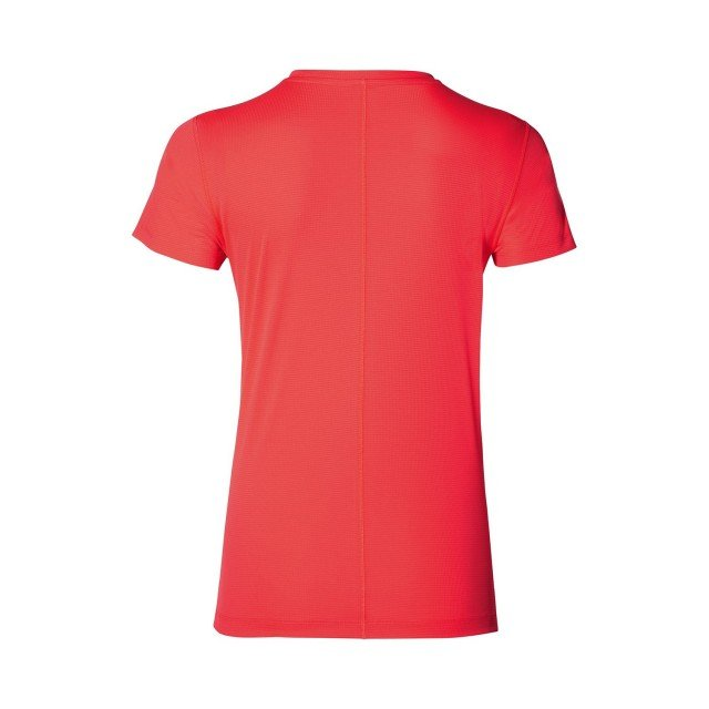 asics silver short sleeve top flash coral