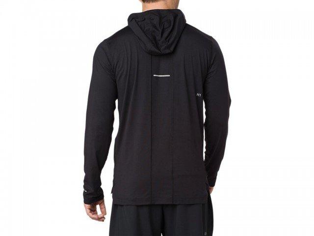 asics long sleeve hoodie performance black