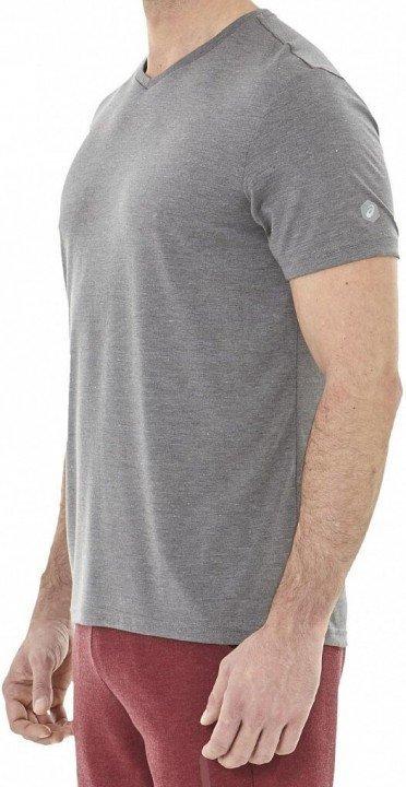 asics essential short sleeve top hex dark grey heather