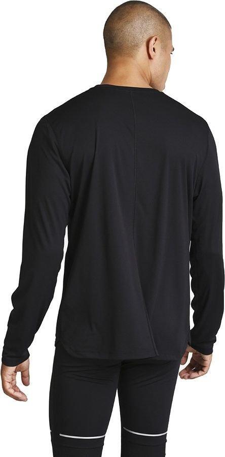 asics silver long sleeve top black