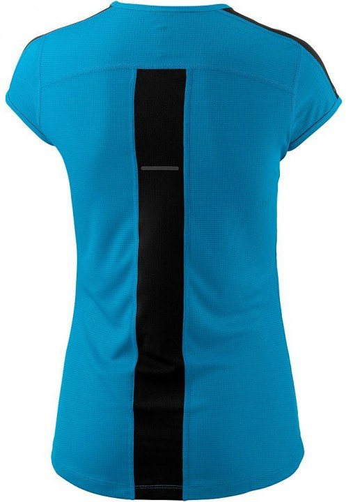 asics short sleeve top blue black