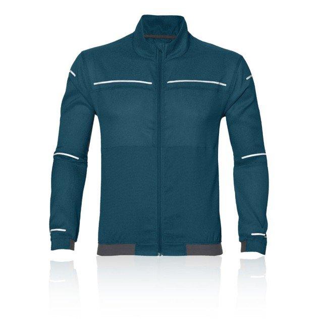 asics lite-show jacket blue