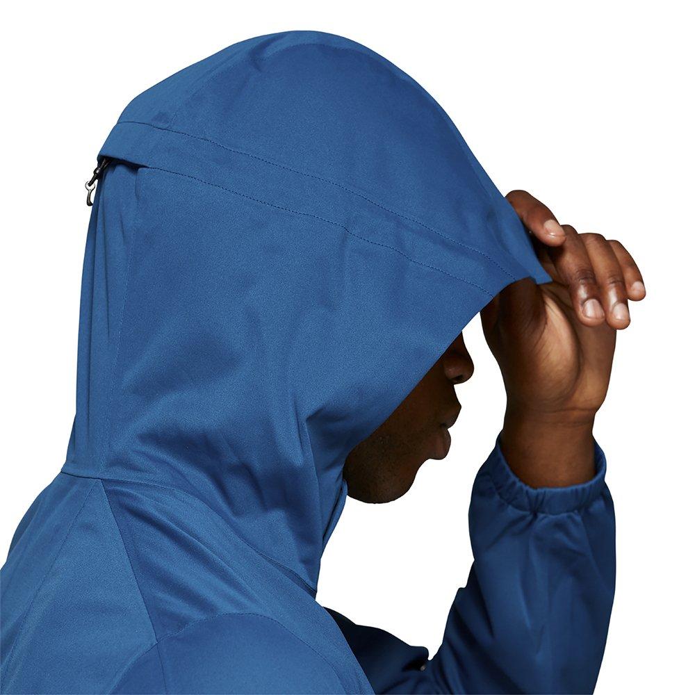 asics accelerate jacket m niebieska