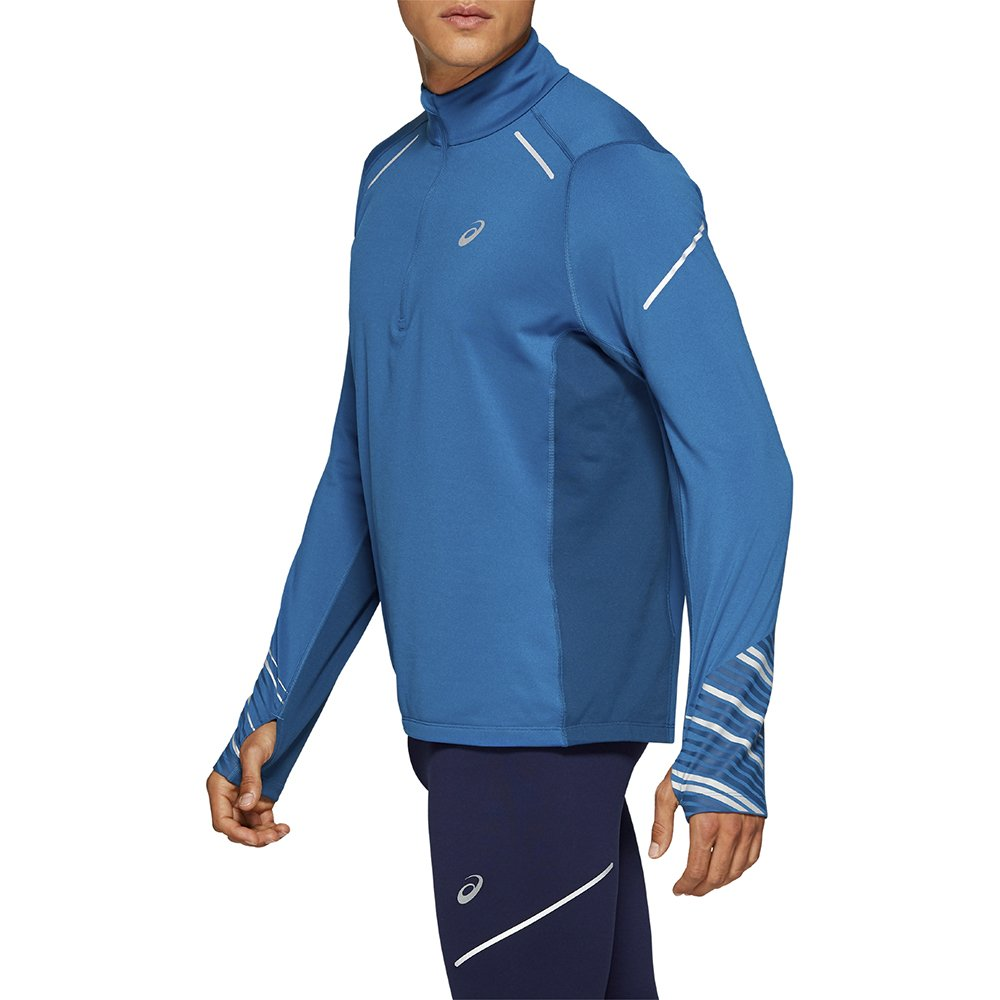 asics lite-show 2 winter ls 1/2 zip top m